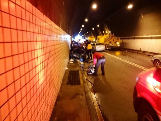宜蘇澳蘭陽隧道內發生追撞車禍 患者搶救不治