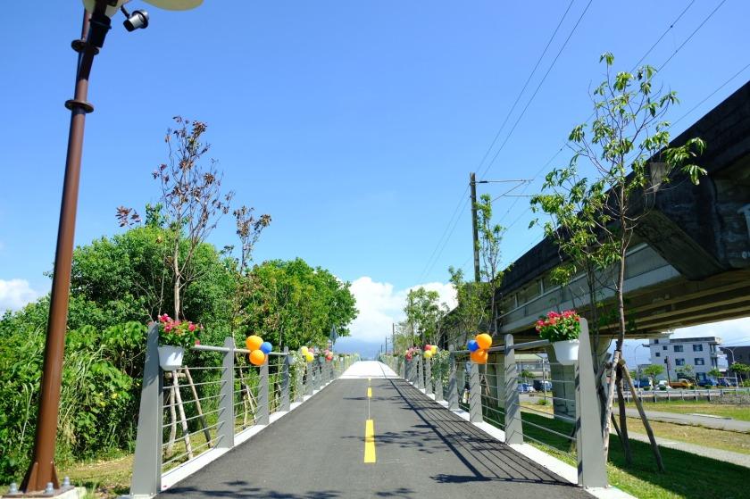 宜蘭縣雙園區自行車道一隅